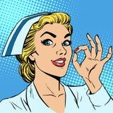 Sjuksköterskagodkännandegest stock illustrationer