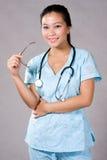 sjuksköterskaleende Royaltyfri Fotografi
