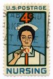 sjuksköterskastämpeltappning Royaltyfri Foto