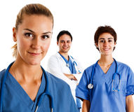 sjuksköterskastående Arkivbild