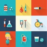 Sjuksköterskasymboler vektor illustrationer