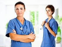 sjuksköterskor två Arkivfoton