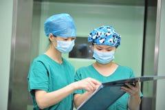 sjuksköterskor två Royaltyfri Fotografi