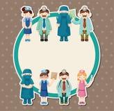 sjuksköterska för korttecknad filmdoktor vektor illustrationer