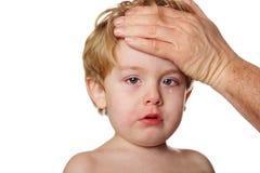 sjukt barn Royaltyfria Bilder