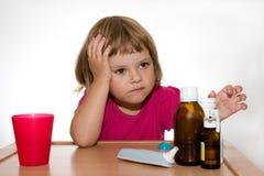 sjukt barn fotografering för bildbyråer