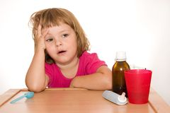 sjukt barn Royaltyfri Fotografi