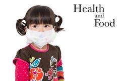 Sjukt barn på vit bakgrund Arkivbilder