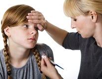 sjukt tonårs- för flicka arkivbilder
