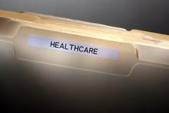 sjukvård för mappmapp Arkivfoto