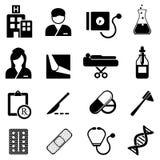 Sjukvård- och läkarundersökningsymboler vektor illustrationer