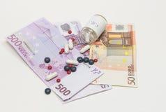 Sjukvård och pengar Arkivbilder