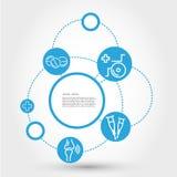Sjukvårdcirkelbegrepp med rullstolen Royaltyfri Bild
