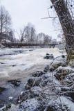 Sjundby` s rivier en stroomversnelling royalty-vrije stock afbeeldingen