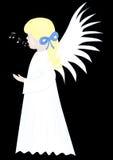 sjunga för ängel Arkivbilder