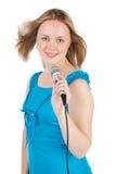 sjunga för flicka Royaltyfri Foto