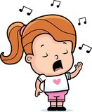 sjunga för flicka Royaltyfri Fotografi