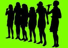 sjunga för flickor Royaltyfri Fotografi