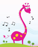 sjunga för giraff Fotografering för Bildbyråer