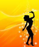 sjunga för kvinnlig Fotografering för Bildbyråer