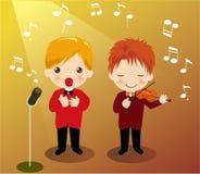 sjunga för pojke vektor illustrationer