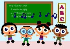 sjunga för skola Arkivbild