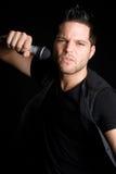 sjunga för manmusik Fotografering för Bildbyråer