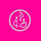 Sjunga symbolen av gamala mannen, disablen, gravid kvinna Royaltyfri Bild