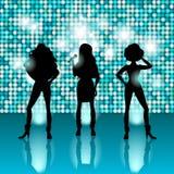 Sjungande flickor diskostil Fotografering för Bildbyråer
