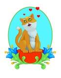 Sjungande katt Royaltyfria Bilder