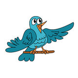 Sjungande liten rolig fågel Arkivbild