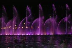 Sjungande springbrunn i Salou Spanien Royaltyfria Bilder