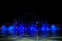 Sjungande springbrunn i Salou Spanien Arkivbild