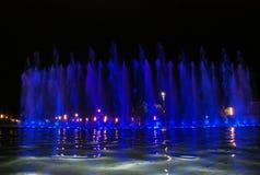 Sjungande springbrunn i Salou Spanien Fotografering för Bildbyråer