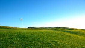 Trevlig golfbana Arkivbild