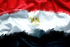 Sjunka Arabrepubliken Egypten vid vattenfärgmålarfärgborsten på kanfastyg, grungestil royaltyfria foton