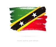 Sjunka av Sanktt Kitts och Nevis stock illustrationer