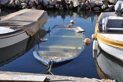 sjunka för fisherboat Fotografering för Bildbyråer