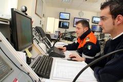 sjunka för räddningsaktion för kryssning för kommandoconcordiacosta Arkivfoton