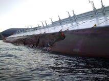 sjunka för ship för concordiacostakryssning Royaltyfri Foto