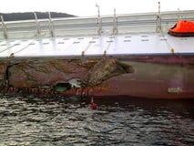 sjunka för ship för concordiacostakryssning Arkivfoton