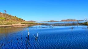 Sjunka Forrest Lake Argyle juveln av Kimberley Western Australia Royaltyfri Bild