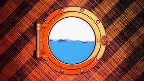 Sjunkande animering för skepp 3D vektor illustrationer