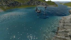 Sjunkande skepp nära stranden vektor illustrationer