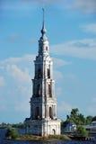 sjunken torntown för kalyazin Arkivfoton