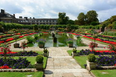Sjunken trädgård för Kensington slott Fotografering för Bildbyråer