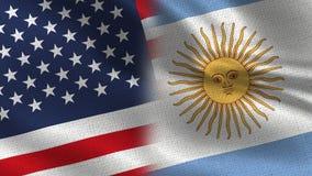 Sjunker den realistiska halvan för USA Argentina tillsammans vektor illustrationer