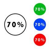 Sjuttio procent symbol royaltyfri illustrationer