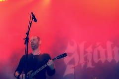 Skálmöld  Hellfest 2016 folk metal band Royalty Free Stock Photo