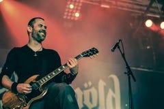 Skálmöld  Hellfest 2016 folk metal band Stock Images